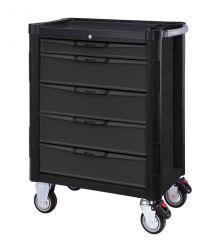BOXO Gereedschapswagen met 5 laden en MIS-systeem zwart/grijs