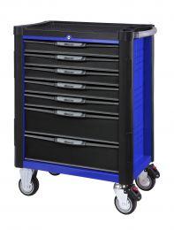BOXO Gereedschapswagen met 7 laden en MIS-systeem blauw