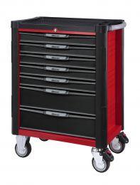 BOXO Gereedschapswagen met 7 laden en MIS-systeem rood