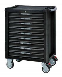 BOXO Gereedschapswagen met 9 laden en MIS-systeem zwart/grijs
