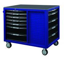 BOXO Gereedschapswagen met 12 laden en MIS-systeem blauw